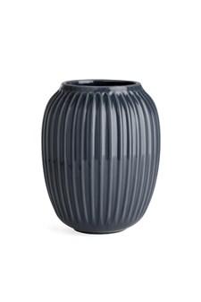 Vase, Hammershöi, H 20 cm, Antrasittgrå, Kähler