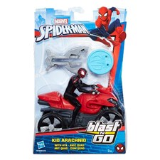 Kid Archnid med fyrhjuling, Blast N' Go Racer , Marvel