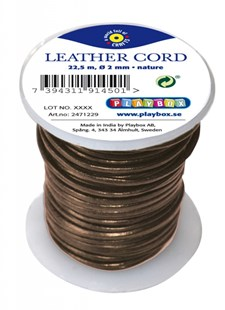 Lädersnöre brun Playbox
