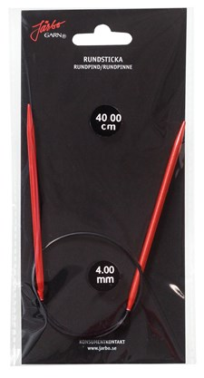 Rundstickor 80 cm/4,0 mm Röd 1 st