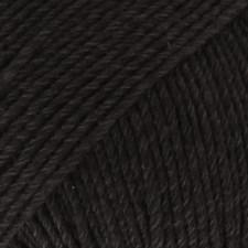 Drops Cotton Merino Uni Colour Lanka Villasekoitus 50g Black 02