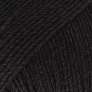 Drops Cotton Merino Uni Colour Lanka Villasekoitus 50g Black 02