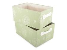 Förvaringsboxar 2-pack Bambi, Grön, Form Living