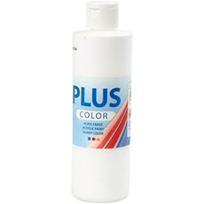 Plus Color hobbymaling, 250 ml, antikk rød