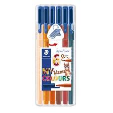 Triplus® color 6-pack, i STAEDTLER-box, 1 mm fiberspets. Llama