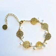 Vegas multi pendant bracelet, Gold