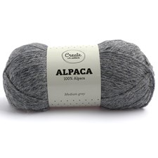 Adlibris Alpakkagarn 50g Medium Grey A007