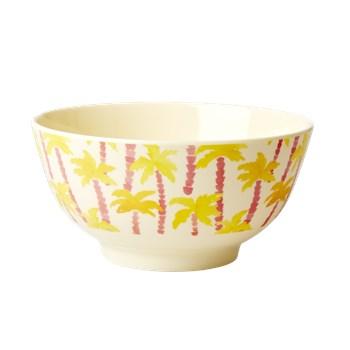 Rice Skål Mellan Melamin Palmer (gul) - tallrikar & skålar