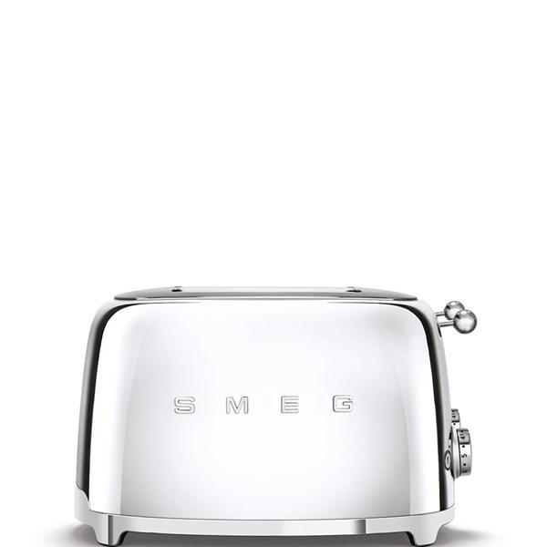 Smeg Brödrost 4-skivor Chrome (silver) - brödrostar