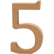 Numero, kork. 13 cm, paksuus 2 cm, 1 kpl, MDF