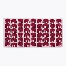 Elefantti Bomull Håndkle Brunröd/Rosa 50x70