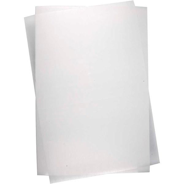 Krympeplast, ark 20x30 cm, 10 ark, Blank transparent