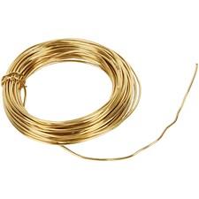 Metallilanka, paksuus 1,2 mm,  100 g, messinki, 10m