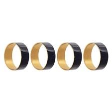 Serviettring, Metall, D4,5 x H1,5 cm, Blå, 4-pack, Bloomingville