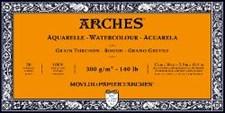 Arches Rough Block för Akvarellfärger 300g 15x30 cm 20 ark limmade på 4 sidor