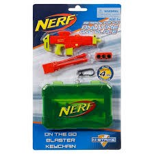 On the go blaster keychain, orange, NERF