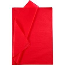 Silkespapper,  50x70 cm,  14 g, röd, 10ark