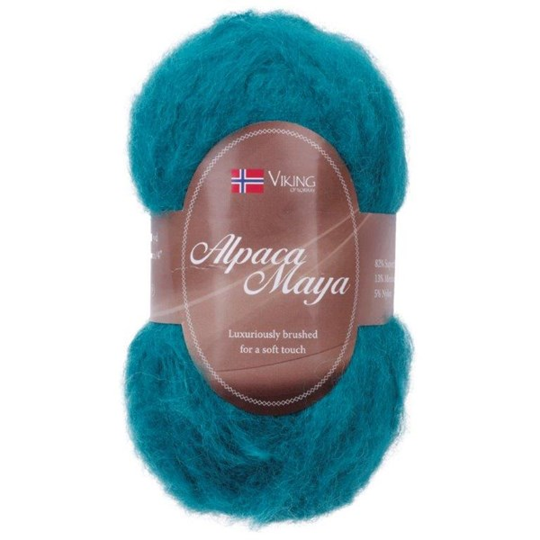 Viking of Norway Alpaca Maya Garn Alpackamix 50g Mörk turkos 729