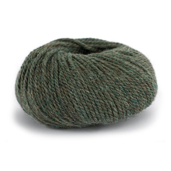 Knit At Home Chunky Alpaca Wool Ullmix 50 g Mørk Oliven Melert 624