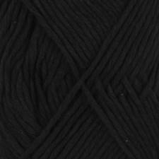 Drops, Cotton Light Uni Colour, Garn, Bomullmiks, 50 g, Sort 20