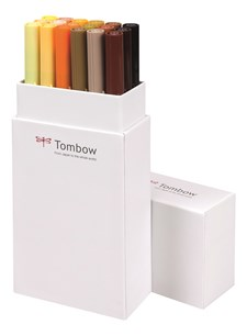 Tombow ABT Dual Brush 18P-3, maansävyt