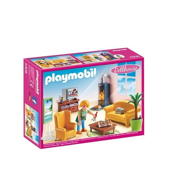 Stue med peisovn, Playmobil (5308)