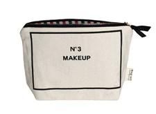Bag-all My Make-up Necessär 100% Bomull 14x20 cm Svart/Vit