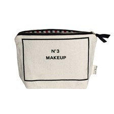 Bag-all My Make-up Toiletry Bag 100% Bomull 14x20 cm Svart/Hvit