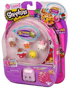 Shopkins-sett, 5-pack, Sesong 5, Shopkins
