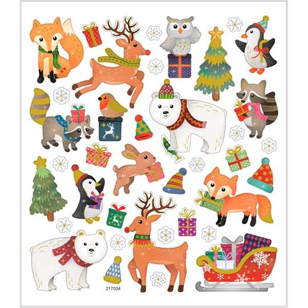 Klistermärken Juldjur 1 ark