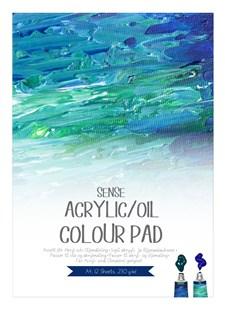 Akryyli-/öljylehtiö Sense 230 g/m2 A4