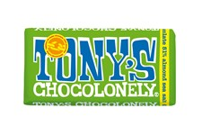 Tony´s Choklad Dark Chocolate Almond & Seasalt 180 g