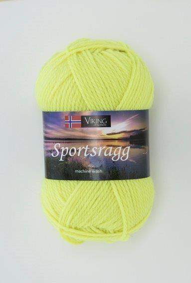 Viking of Norway Sportsragg Garn Ullmix 50g Neongul 549