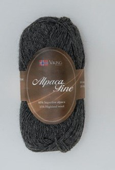 Viking of Norway Alpaca Fine Garn Alpackamix 50 g grå 615