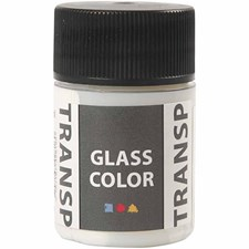 Glass Color Transparent lasimaali, 35 ml, valkoinen