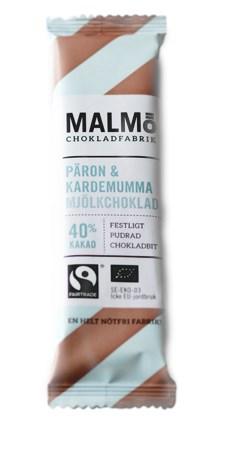 Malmö Chokladfabrik Malmö Bars Choklad Päron & Kardemumma Mjölkchoklad 40% 25 g (14554)